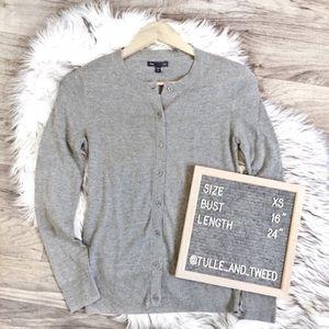 GAP Factory gray cardigan essential NWT XS
